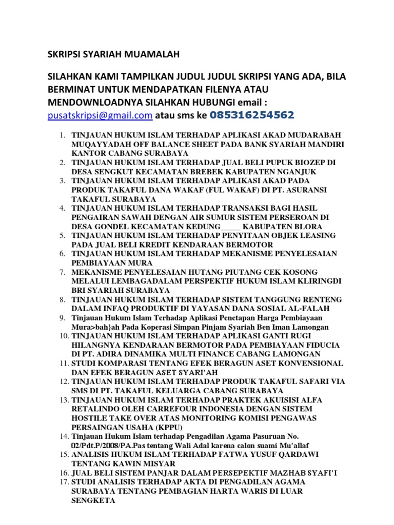 Proposal Penelitian Ekonomi Syariah Ilmusosial Id