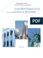 Task Force on New York Law in International Matters