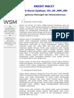 Kredit Macet Dan Solusinya Wsm Law Office