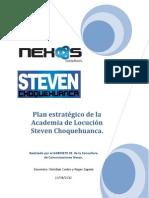 Plan estratégico de Relaciones Públicas Academia Steven Choquehuanca
