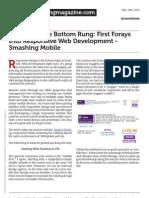 Mobile.smashingmagazine.com a Foot on the Bottom Rung First Forays Into Responsive Web Development Smashing Mobile