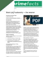 Basic Pig Husbandry-The Weaner - Primefact 72-Final