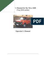 Lada Niva 1600 Owners Manual1600