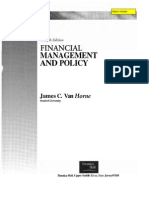 Financial Management & Policy by James c. Van Horne 12th edition