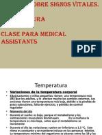 Apuntes Sobre Temperatura Para Medical Assistants