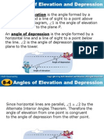 C Angles of Elevation and Depression