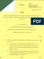 CA IPCC NOV 2010 QUSTION PAPER 1