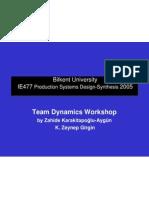 IE477 Team Dynamics Workshop 2005