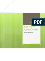 Blair Water Purifiers India-Case Study