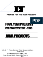 NCCTFinal Year Projects, Java IEEE 2012 Parallel and Distributed Systems Projects