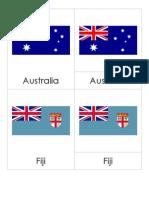 3PC Oceania Flags