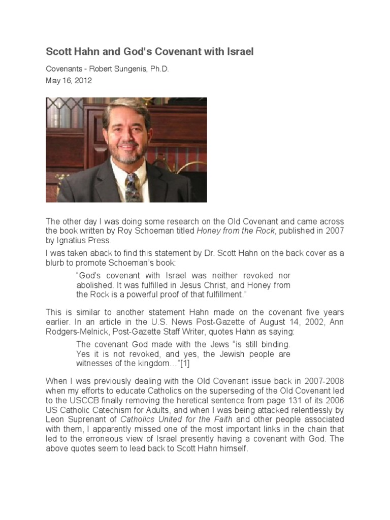 Scott Hahn and God's Covenant With Israel   New Covenant