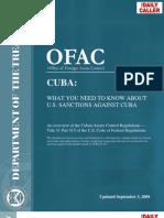 OFAC - Treasury - Cuba Sanctions