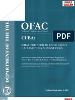OFAC - Treasury - Cuba Sanctions