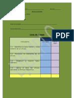 Ejemplo de Lista de Cotejo (matemática)