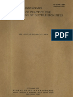 12288-Code of Practice for Use and Laying of Ductile Iron Pipes