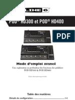 POD HD300 Advanced Guide - French ( Rev D )