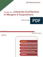 Role of Enterprise Architecture in M&a--V1.1