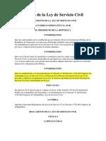 1998 Reglamento de La Ley de Servicio Civil