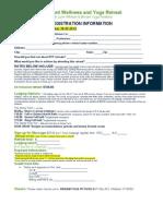September 2o12 Retreat Registration