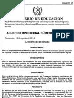 2010 1515-2010 AM Programas de Apoyo en Centros Educativos no tienen Organización Escolar