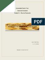Plan de Produccion Papas Teo`s SAIA UFT Gerencia Industrial