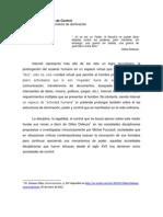 Hacia Las Sociedades de Control - David G.
