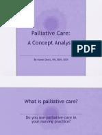 Palliative Care-A Concept Analysis
