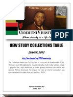 RBG Communiversity Courses of Study Collections 2012 Summer Semester