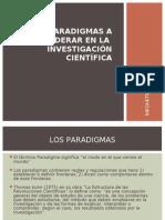Los Tres Paradigmas en Investigacin