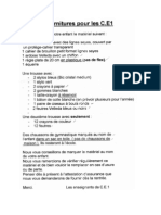 Liste Fournitures CE1