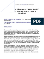 """LIVE - Paths Diverge at """"Who Am I?""""' - Sorting-Out & Diverging - 12 vs 2 Strands"""