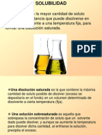 Solubilidad - Clase 5