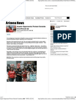 Arpaio Opponents Protest Outside Courthouse � - VOTE AZ 2012.pd