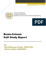 Beam-Column Self Study Report by Othman and Hani