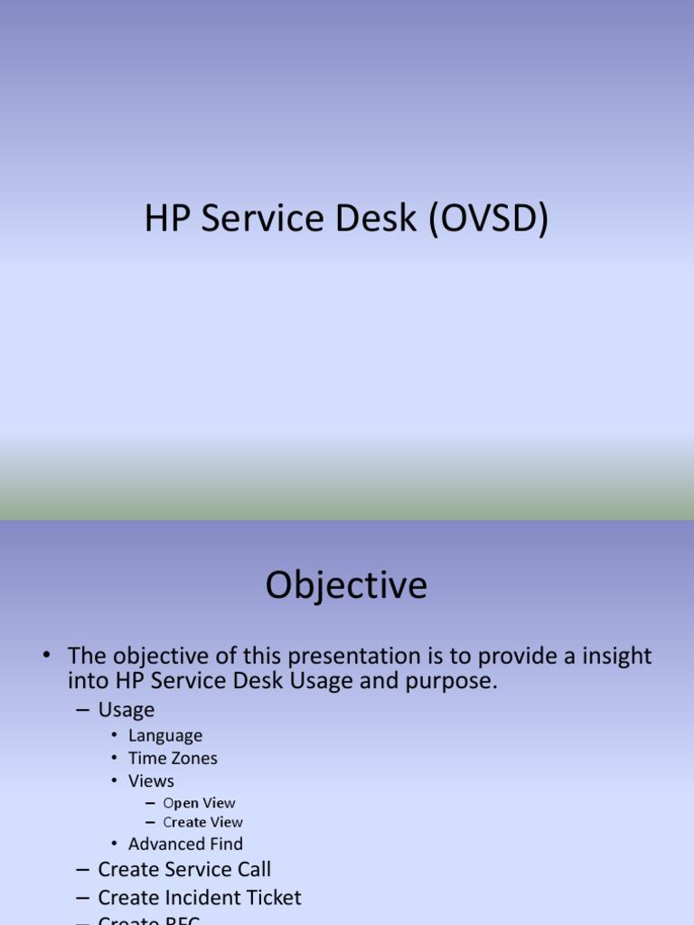 HP Service Desk | Password | Server (Computing)