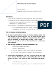 Module 8 - Decision Making