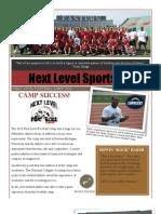 Next Level Sports 55 Newsletter 2012 Vol #1