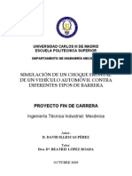 SIMULACIÓN DE UN CHOQUE FRONTAL DE UN VEHÍCULO AUTOMÓVIL CONTRA DIFERENTES TIPOS DE BARRERA