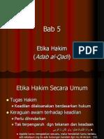 05 Etika Hakim (Adab Al-Qadi)
