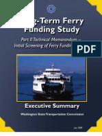 LongTermFerryFunding StudyPtII_ExecSum