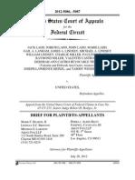 Brief for Plaintiffs-Appellants, Ladd v. United States, No. 2012-5086 -5087 (filed July 20, 2012)