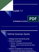 09 Al-Wakalah Bi Al-Khusumah