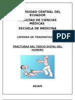 FRACTURA DE TERCIO DISTAL DE  HUMERO TRAUMATOLOGÍA