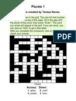 Plurals 1 Crosswords