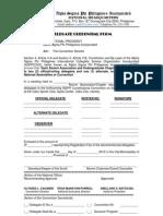 Delegate Credential Form (New)
