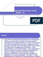 Denver Developmental Screening Test II (DDST –ppt