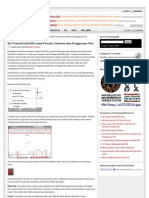 Penggunaan Tools dalam program Autocad