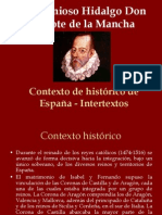 Contexto histórico del Quijote de la mancha II Parte