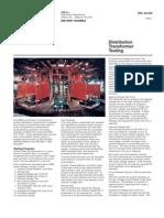 Distribution Transformer Testing